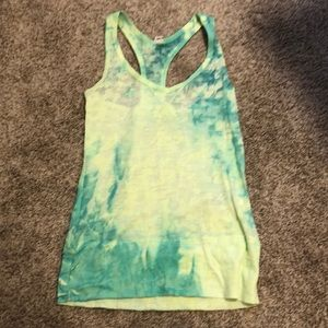North face tie dye athletic top